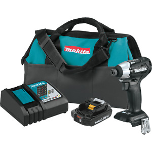 Makita XDT15R1B-R 18V LXT Li‑Ion Sub‑Compact Brushless Impact Driver Kit, 2.0Ah