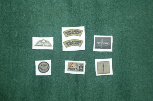 1//6 British Royal Marines Commando ISAF Afghanistan REORG patch set lot