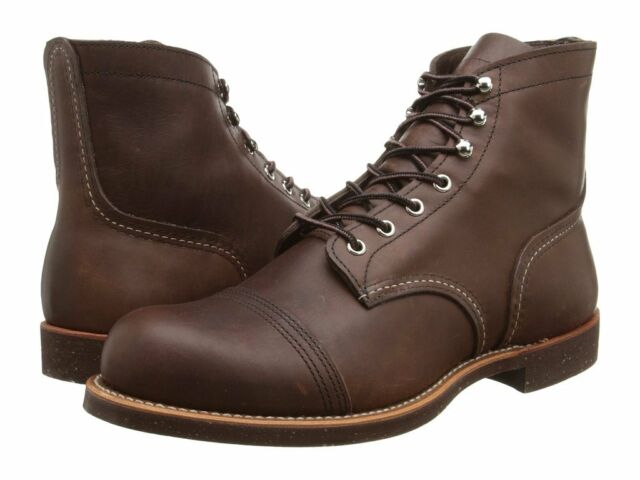 5ac1b4a53e0 RED WING AMBER HARNESS LEATHER IRON RANGER LACE UP MEN'S BOOTS 8111 BROWN