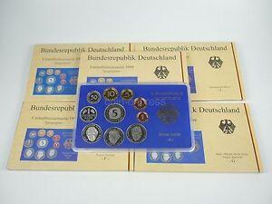 DM-KMS-DEUTSCHLAND-1999-A-D-F-G-J-Polierte-Platte-PP-Kursmuenzensatz-Germany