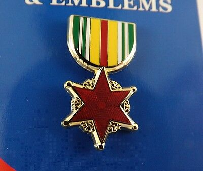 Militaria Other Militaria Lovely Brand New Lapel Pin Vietnam Wound Medal Enamel 1 3/16""