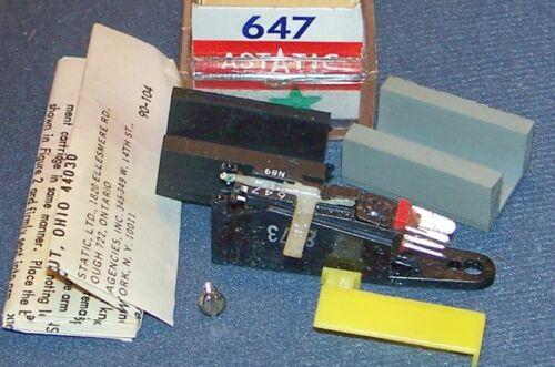 RECORD PLAYER CARTRIDGE ASTATIC 647 FOR PU3012A EV 5455D 647D Crown N51P-81F