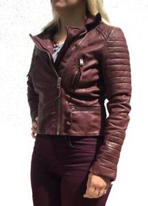 494c65750 Details about *RARE STYLE* ALL SAINTS OXBLOOD LEATHER BIKER JACKET UK 8 &  10 RRP £380 $670