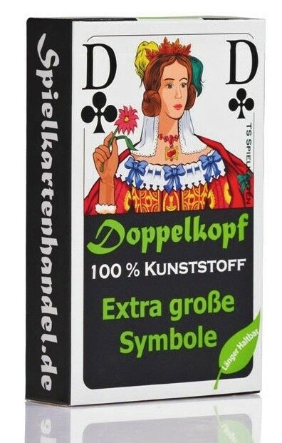 Ab  Doppelkopf Spielkarten Senioren 100% Kunststoff (Plastik +) Franz. Bild