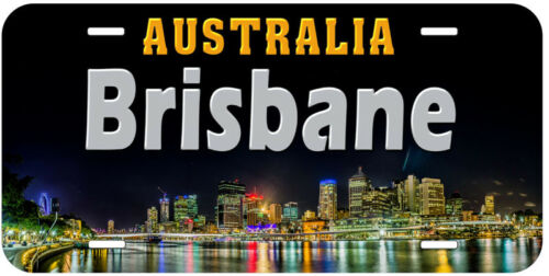 Brisbane Australia Aluminum Novelty Car License Plate