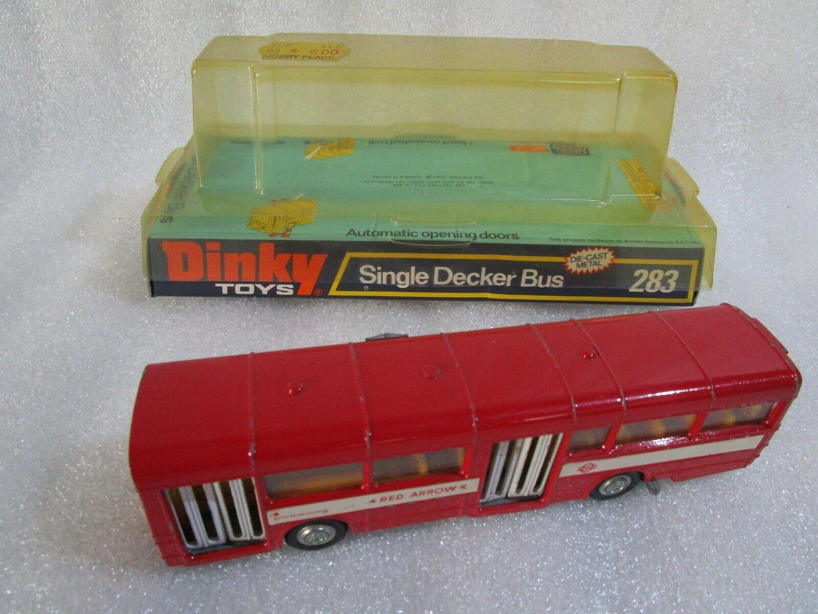 Dinky toys 283 Single Decker Bus rot Arrow , Orange Interior , V Good , Boxed