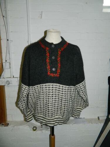 Jumper Button 80 Collar Floral Pattern Up Wool Size Norcewool 52 And Birdseye 1zaRqf