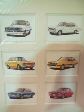 Golden Ear Collector Cards - Ford Escort  Series (in Passpartout)