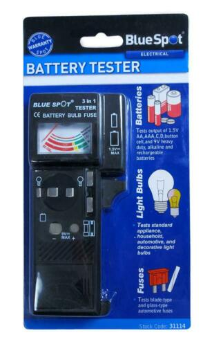 CLEARANCE BATTERY BULB AND FUSE TESTER HOME GARAGE WORKSHOP B31114