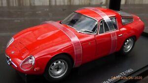 Raro-Autoart-1-18-Alfa-Romeo-Giulia-TZ-Milano-detallada-de-juguete-modelo-de-coche-alfa-Rosso