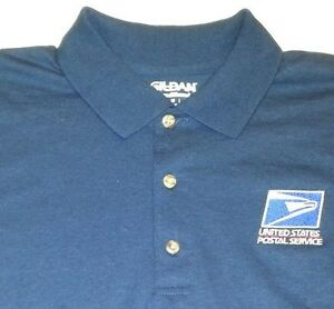 Usps embroidered polo shirt s 3xl navy blue 50 50 for Usps t shirt shipping