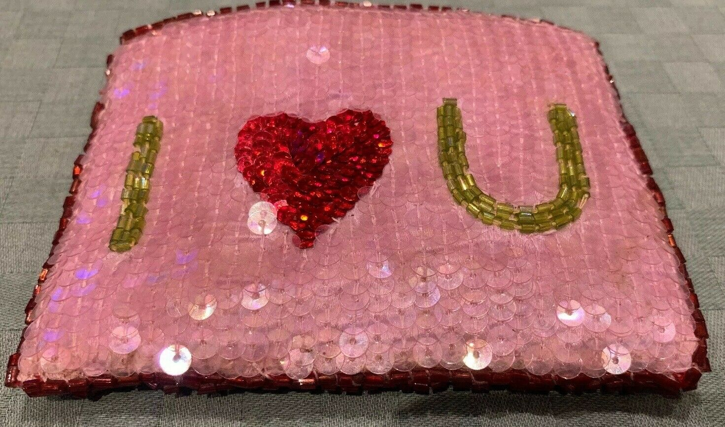 'I Love You' Sequin Coin Purse - Show Your Affection Gift !