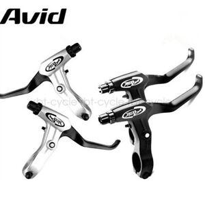 Avid FR-5 BLACK Brake Levers Set V-Brake Disc Mountain Hybrid Bicycle Bike Pair