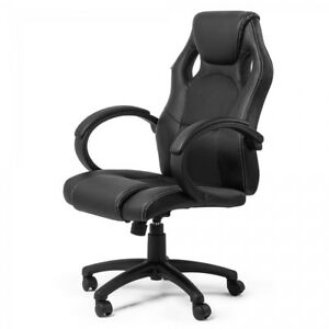 Silla Oficina Escritorio Racing Gamer PU diseño Reposabrazos silla ...