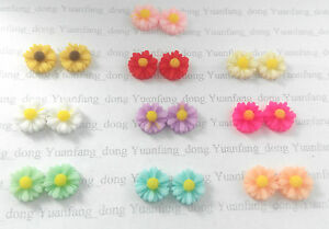 Image Is Loading New Women Small Daisy Flower Ear Studs Earrings