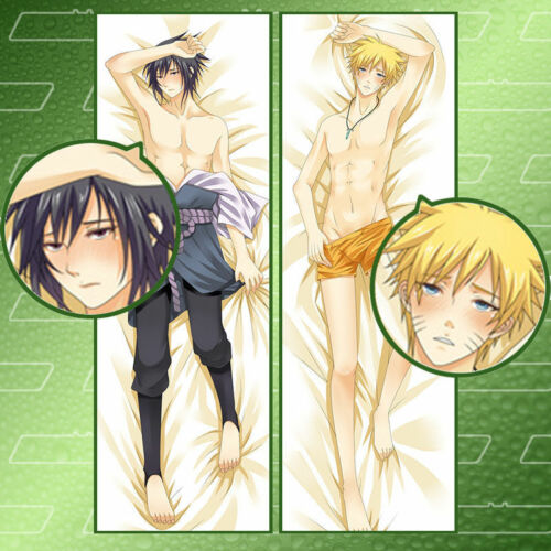 Anime Naruto Sasuke Dakimakura Pillow Case Cover Hugging Body cosplay