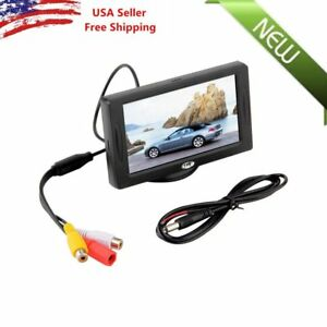 Car-Rear-View-System-Backup-Reverse-Camera-Night-Vision-4-3-034-TFT-LCD-Monitor-USA