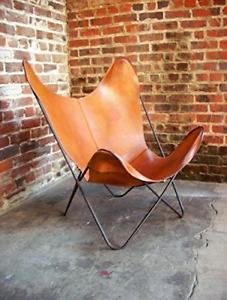 Vintage-Handmade-Cowhide-Leather-BKF-Butterfly-Chair-Relax-Arm-Chair-Only-Cover