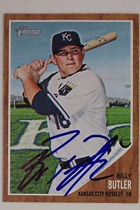BILLY-BUTLER-039-Country-Breakfast-039-Autographed-2011-Topps-Heritage-Signed-Card-16E