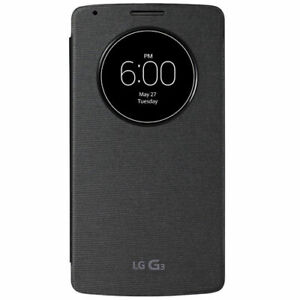 new products 4de03 5ceb5 Details about LG G3 QUICKCIRCLE QI WIRELESS CHARGING CASE COVER - TITAN  BLACK - CCF-340G