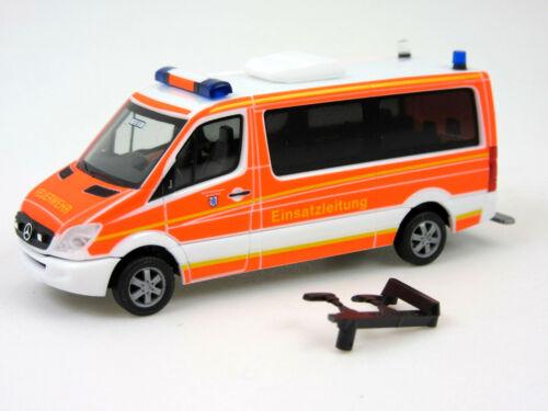"""HERPA Modell 1:87//H0 MB Sprinter Einsatzleitwagen /""""Feuerwehr Ingolstadt/"""" #093898"""