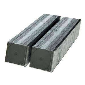 200-Slim-5-2-mm-Black-Single-CD-DVD-R-Movie-Jewel-Cases-Box-Ship-From-USA