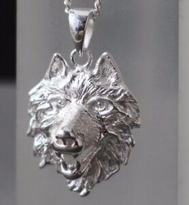 Herren-Wolfskopf-Anhaenger-Wolf-925-Sterling-Silber-massiv-Kettenanhaenger