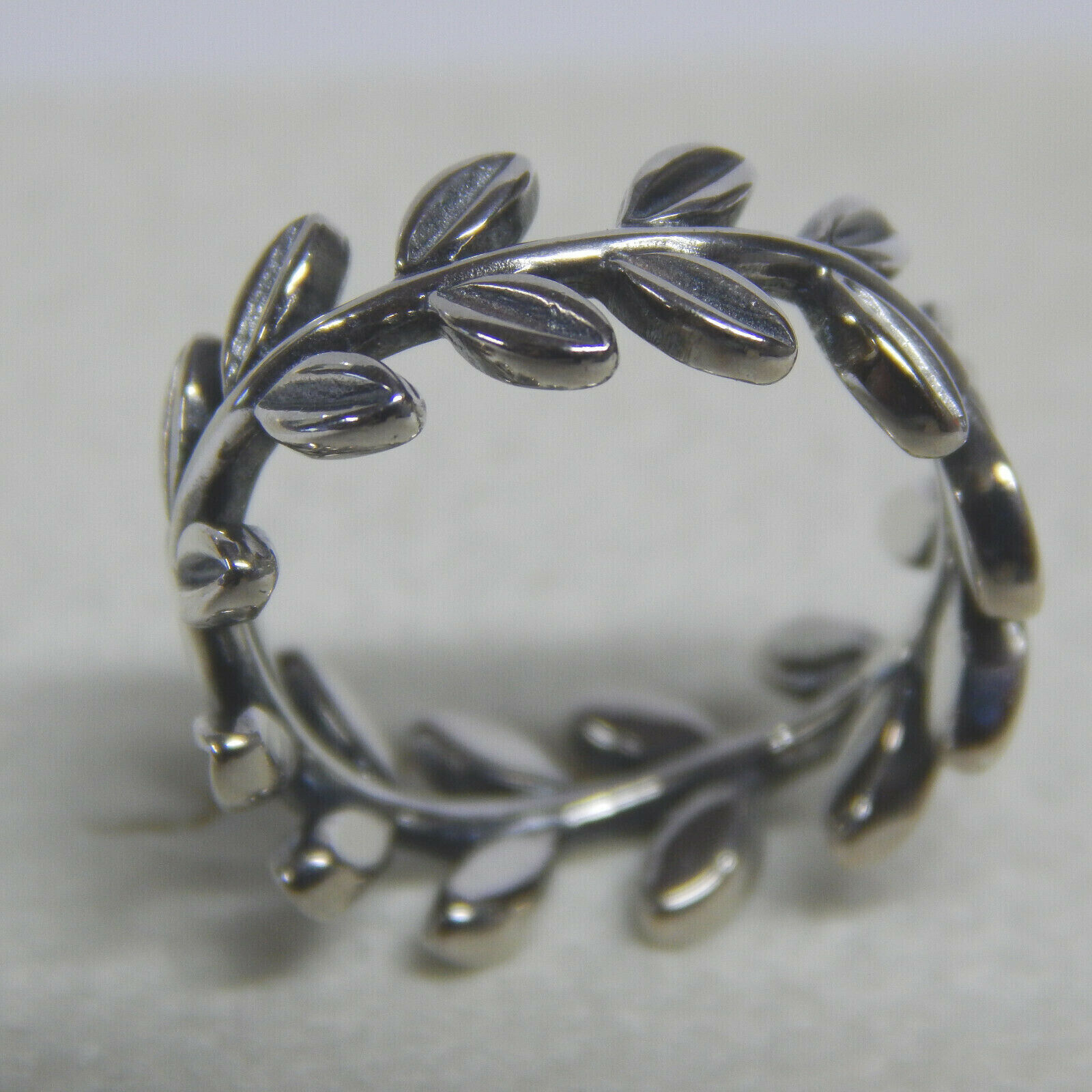 21b5fdc46 Authentic PANDORA 190922 Sterling Laurel Wreath Ring Size 6.5 for ...