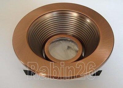 4 Quot Inch Recessed Light Copper Trim Baffle Mr16 12v Fit