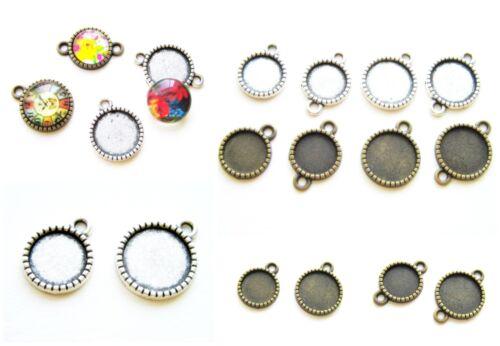 Remolque joyas versión conector para cabuchons 10//12mm 10 unidades serajosy