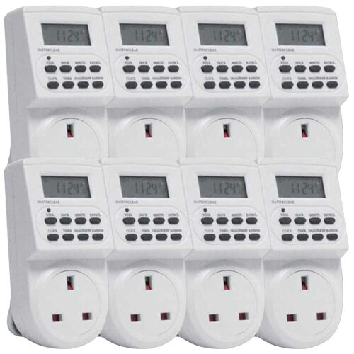 24 Hour 7 Day Digital Electronic Electric LCD Plug in Timer Switch Socket