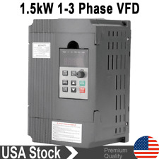 1500w 2hp 8a Variable Frequency Drive Inverter Vfd Single To 3 Phase 220v