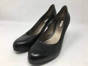 Details zu GEOX Respira Classic Pumps Shoes Black Leather Slip On Heels Women's US Zs 10.5 93DEY