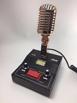 GOLD DELTA M2 AMPLIFIED DYNAMIC POWER BASE MICROPHONE 6 PIN Ranger CB HAM MIC