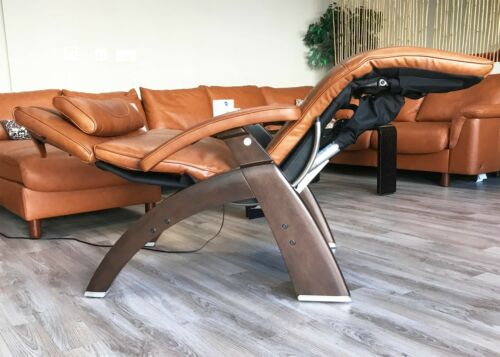 Cognac Leather PC LIVE PC-610 Human Touch Zero Gravity Perfect Chair Recliner