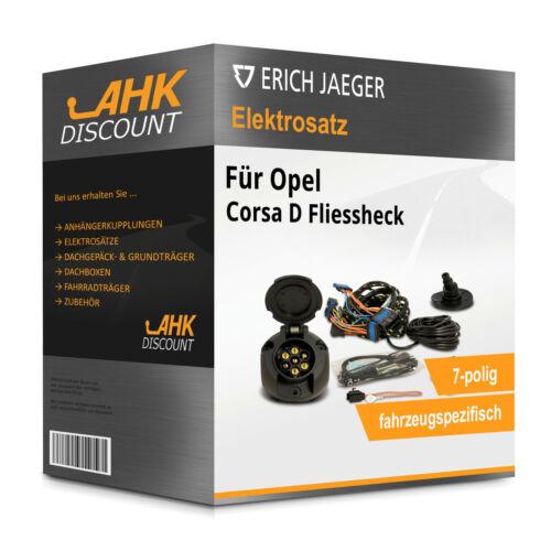 Für Corsa D Fliessheck 11.06-11.14 JAEGER Elektrosatz 7polig fahrzeugspezifisch