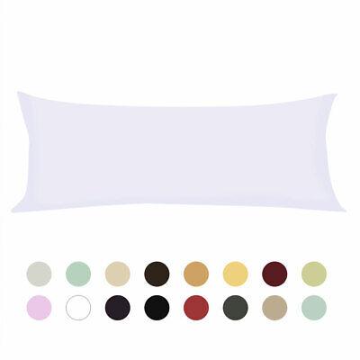 Zippered Body Pillow Cover Soft Microfiber Long Pillowcases Light Grey 20x60