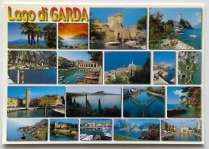 Lago di Garda 18 Views Postcard (P310)