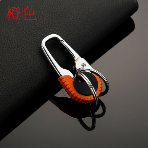 Stainless Steel Buckle Carabiner Keychain Key Ring Hook Lock Outdoor Climbing LK