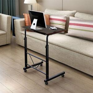 Laptop Adjustable Computer Standing Desk Portable Cart Tray Side