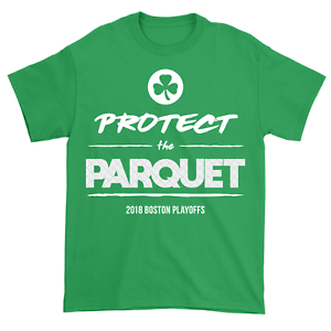 best cheap a544c c381e Details about Protect the Parquet 2018 Boston Celtics Garden NBA Playoffs  Finals Green Shirt