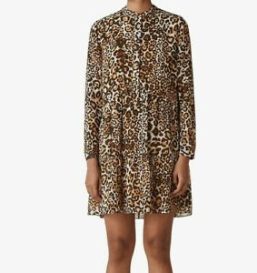 Whistles-Leopard-Printed-Button-Down-Tunic-Shirt-Casual-Mini-Shift-Dress-4-To-16