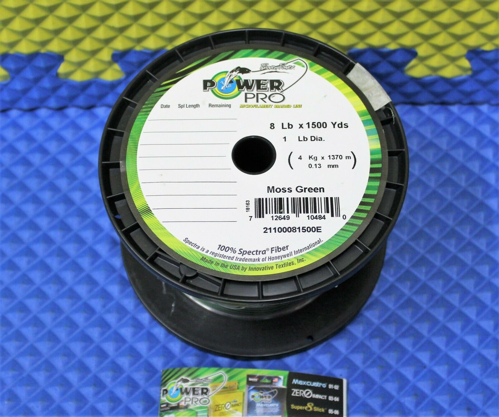Power Pro Microfilament Braided Fishing Line 8 lb. 1500 yds. Moss Green 18163