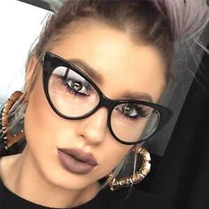 Cat-Eye-Retro-Eyeglasses-Plastic-Frame-Clear-Lens-Women-Designer-Fashion-Glasses