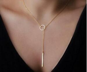 Pendentif-Dore-pour-Femme-avec-un-Anneau-Bijou-Cadeau-Collier-Fashion-Necklace