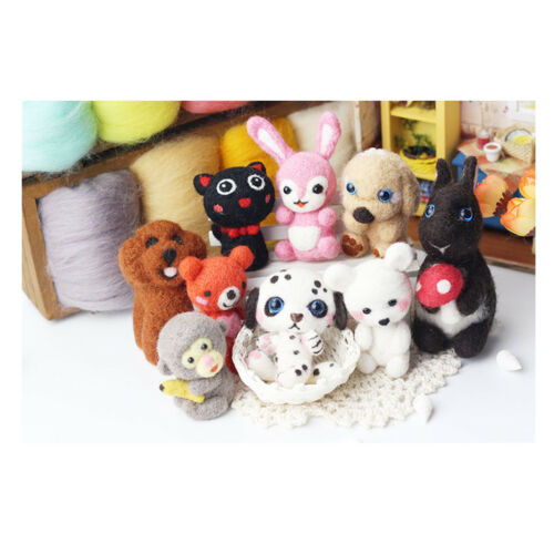 Wool Felting Craft Needle Felt Animal Kit Set For Beginner Kids Craft