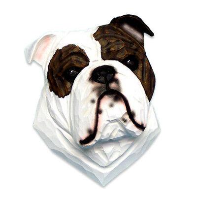 Deko Aufsteller LOVE « ENGLISCHE BULLDOGGE » Hunde Kopf Hunderasse Liebe England