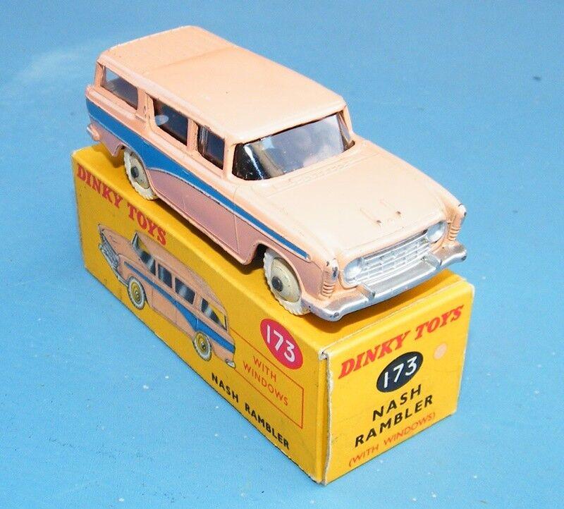Dinky Toys 173 Nash Rambler Durazno blu vnmb Original