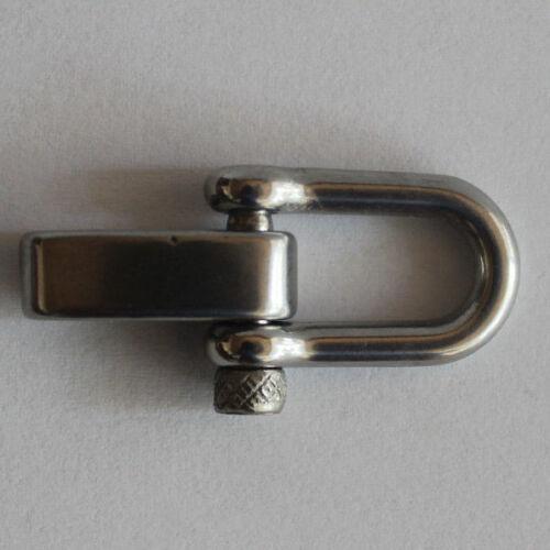 25 mm 3tlg Schäkel Metall 15 silber glänzend  Paracord