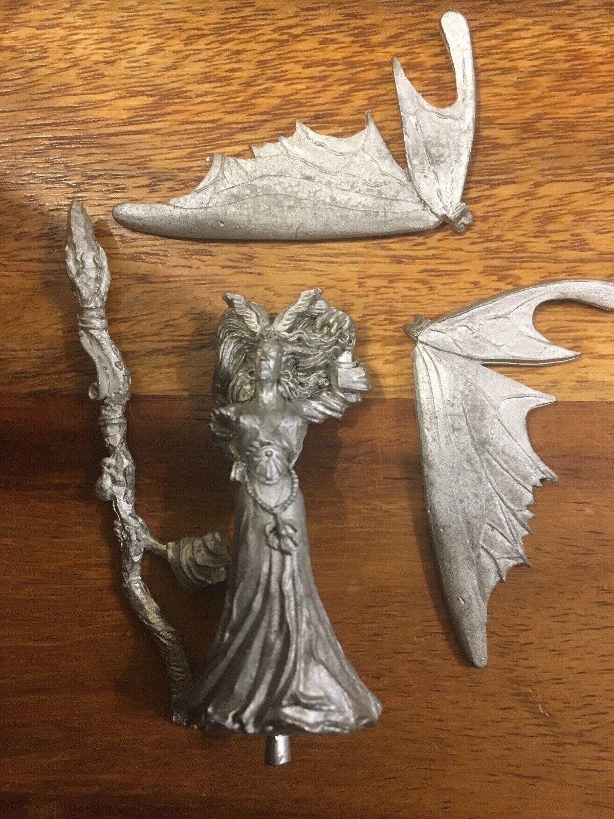 Elfos de madera Ariel-Mago Reina de Loren Warhammer metal Elf Juegos Workshop fuera de imprenta